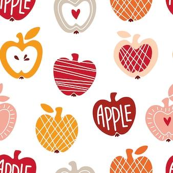Modèle sans couture avec des pommes abstraites