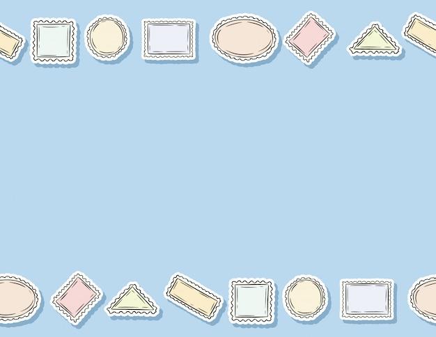 Modèle sans couture de post timbres autocollants.