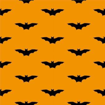 Modèle sans couture pour halloween noir orange graphiques vectoriels