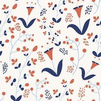 Modèle sans couture de printemps avec des fleurs colorées