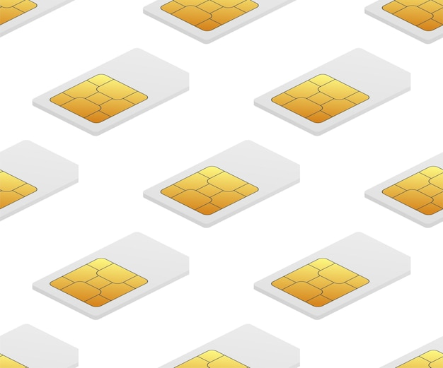 Modèle sans couture de puce numérique de carte mère de puce numérique e sim