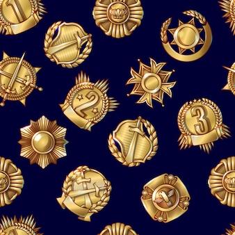 Modèle sans couture de récompenses militaires