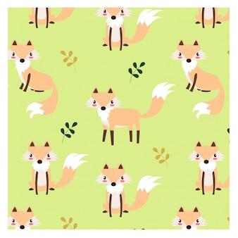 Modèle sans couture de renard