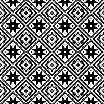 Modèle sans couture répétant la conception avec des formes géométriques.