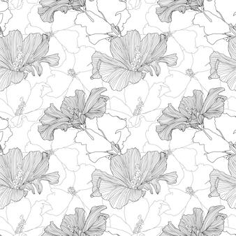 Modèle sans couture répétitif tropical de vecteur plantes exotiques abstraites