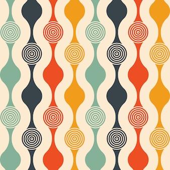 Modèle sans couture rétro avec cercles