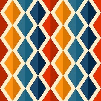 Modèle sans couture rétro avec losanges colorés