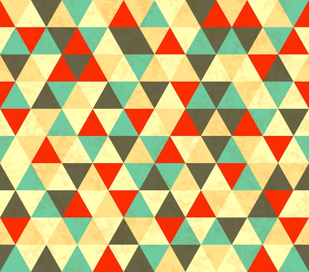 Modèle sans couture rétro de triangles colorés