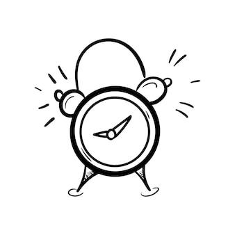 Modèle sans couture réveil dessiné à la main doodle croquis retour à l'icône de l'école