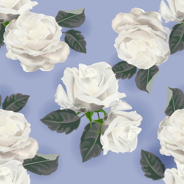 Modèle sans couture rose blanche