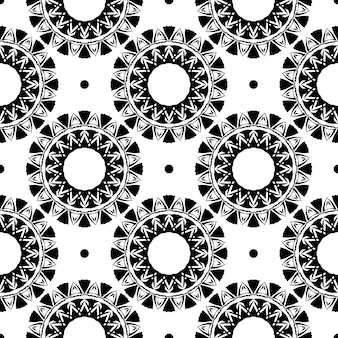 Modèle sans couture de rosée blanche avec ornements vintage. arrière-plan dans un modèle de style vintage. élément floral indien. ornement graphique pour tissu, emballage, emballage.