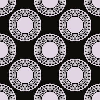 Modèle sans couture de rosée noire avec des ornements vintage. arrière-plan dans un modèle de style vintage. élément floral indien. ornement graphique pour tissu, emballage, emballage.