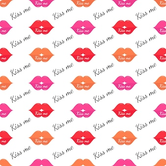 Modèle sans couture de rouge à lèvres coloré pour emballer les textiles en tissu de papiertshirtfashion print
