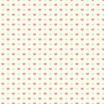 Modèle sans couture de saint valentin avec coeurs