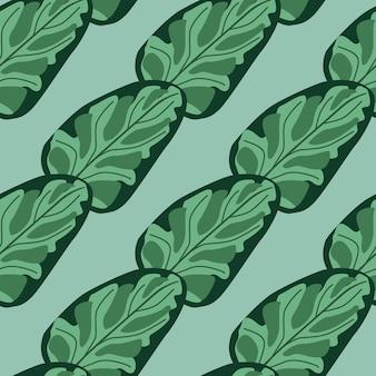Modèle sans couture salade d'épinards sur fond rayé bleu. ornement abstrait avec de la laitue. modèle de plante diagonale pour tissu. illustration vectorielle de conception.