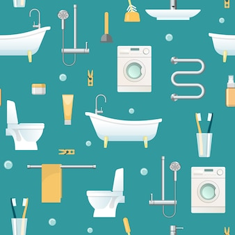 Modèle sans couture de salle de bain