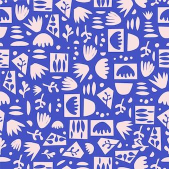 Modèle sans couture scandinave simple moderne et contemporain forme abstraite illustration motif