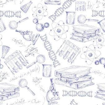 Modèle sans couture de science sketch