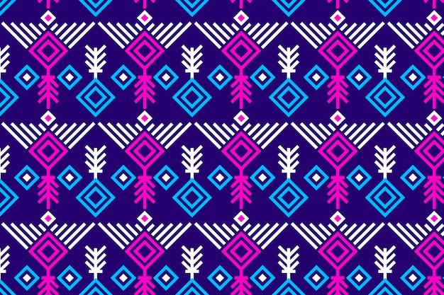 Modèle sans couture songket violet vif et rose