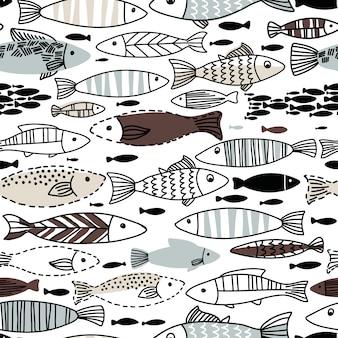 Modèle sans couture sous-marine avec des poissons. le modèle sans couture peut être utilisé pour les fonds d'écran, les arrière-plans de page web