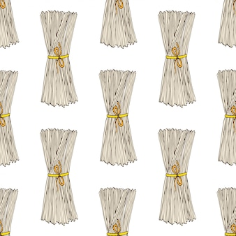 Modèle sans couture de spaghetti