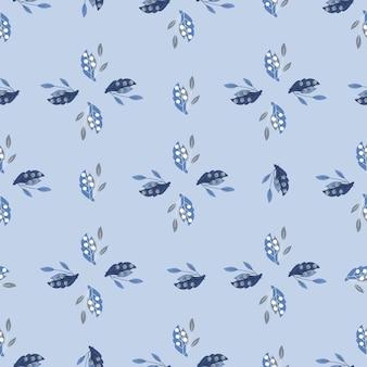 Modèle sans couture de style géométrique avec des baies de rowan doodle