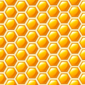 Modèle sans couture. style nid d'abeille. illustration. modèle abstrait médical, produit naturel de miel