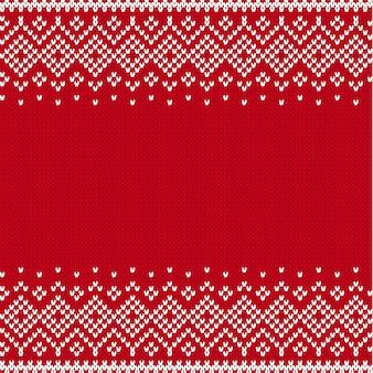 Modèle sans couture de style tricoté avec place pour le texte.