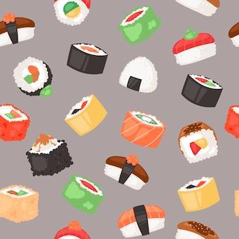 Modèle sans couture de sushi
