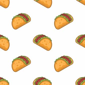 Modèle sans couture de taco