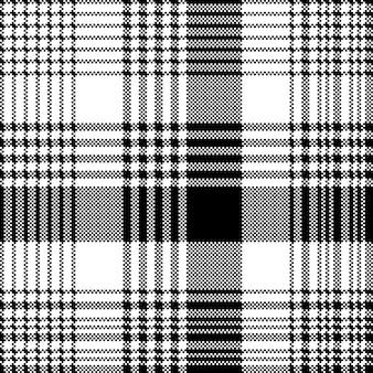 Modèle sans couture tartan cocher texture noir et blanc