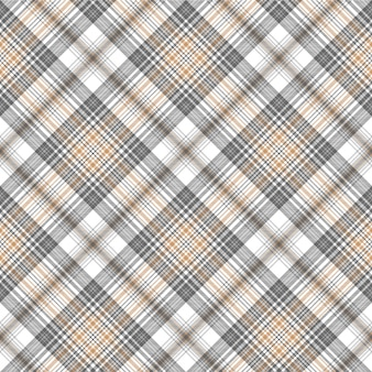 Modèle sans couture de tartan couleur argent or