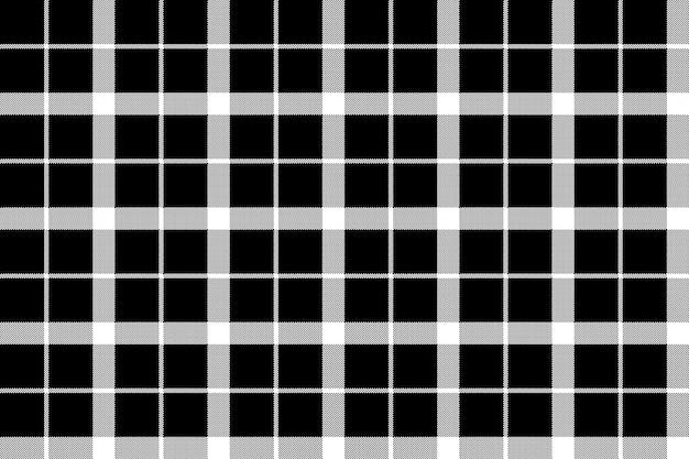 Modèle sans couture tartan pixel monochrome classique