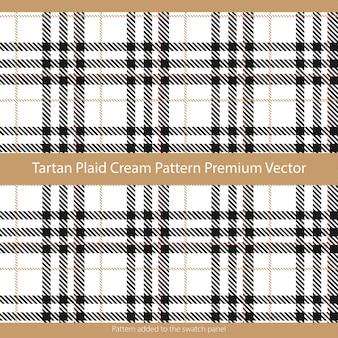 Modèle Sans Couture Tartan Plaid Cream Adapté Aux Textiles De Mode Et Aux Graphiques Vecteur Premium