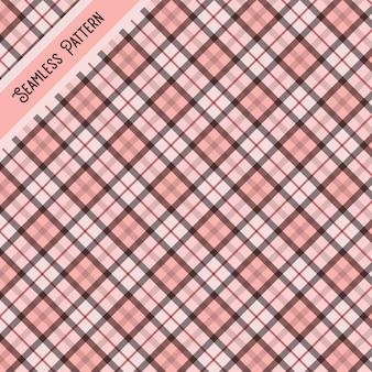 Modèle sans couture tartan rose et gris