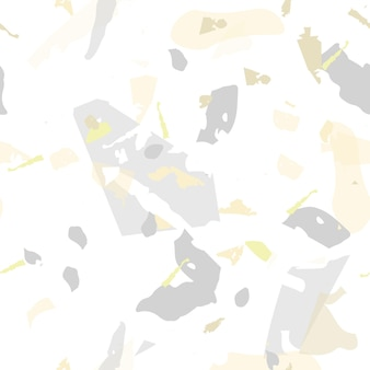 Modèle sans couture de terrazzo. carrelage minimaliste terreux pour la décoration intérieure. fond fait de pierres naturelles, granit, quartz, marbre, béton. modèle sans couture de terrazzo dans des couleurs froides.