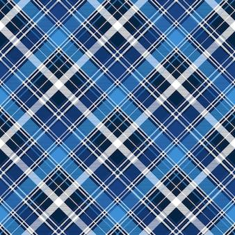 Modèle sans couture textile contrôle abstrait bleu
