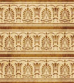 Modèle sans couture texturé brun rétro, ligne de point de feuille de forme d'éventail de croix courbe