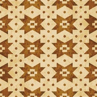 Modèle sans couture texturé brun rétro, point de contrôle carré croix géométrie