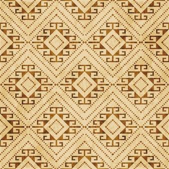 Modèle sans couture texturé brun rétro, vérifiez la ligne de points du cadre croisé en spirale de diamant