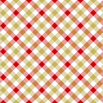 Modèle sans couture de texture carreaux beige rouge blanc