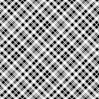 Modèle sans couture de texture noir montre tartan tissu
