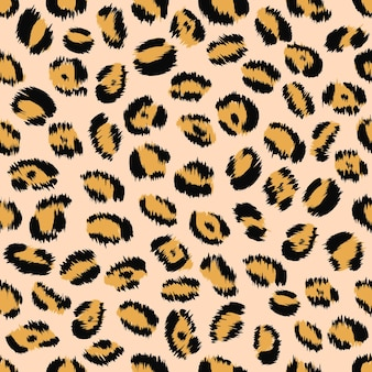 Modèle sans couture de texture de peau de léopard