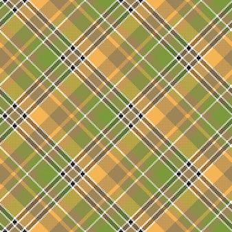 Modèle sans couture de texture pixel jaune tissu vert