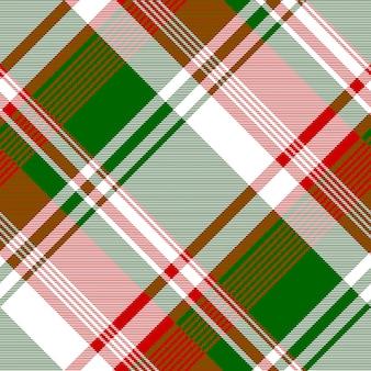 Modèle sans couture de texture de tissu check rouge vif vert