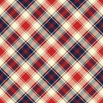 Modèle sans couture de texture de tissu diagonal carreaux
