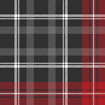 Modèle sans couture de texture de tissu écossais gris
