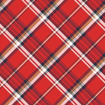 Modèle sans couture de texture de tissu écossais rouge