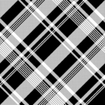 Modèle sans couture de texture de tissu pixel blanc noir