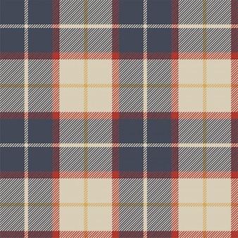 Modèle sans couture de texture de tissu tartan bleu rouge. illustration vectorielle.